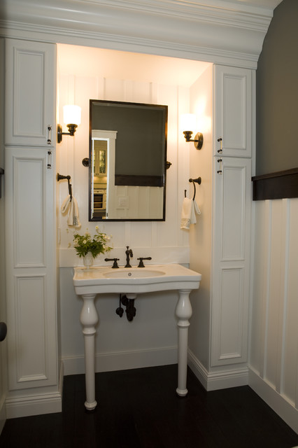21st Century Bungalow traditional-powder-room