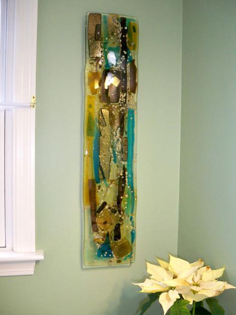 Abstract Wall Panels modern-powder-room