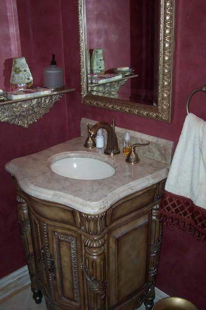 An Elegant  Powder Room traditional-powder-room