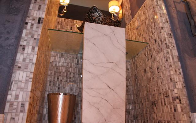 Ancala Platinum & Champagne contemporary-powder-room