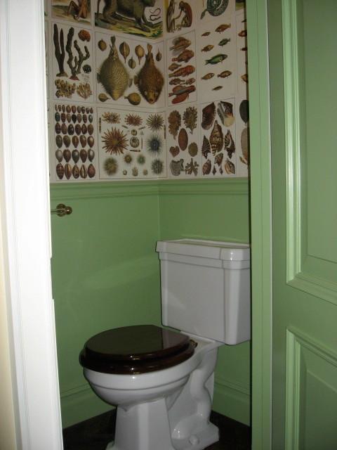 Andrew Frank Interior Design eclectic-powder-room