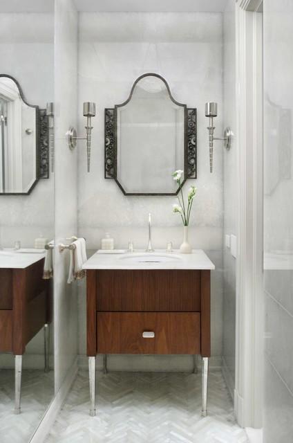 Art Deco Pied A Terre Contemporary Powder Room