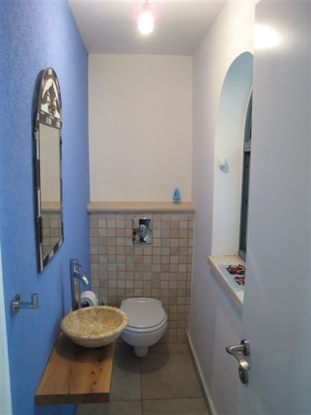 Asher Elbaz mediterranean powder room