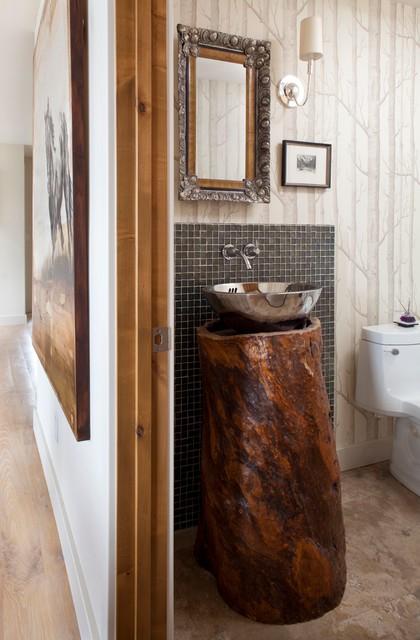 Aspen Mountain Modern Rustic Powder Room