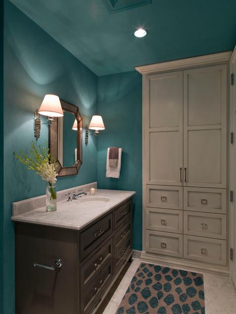 Austonian Luxury Condo Contemporary Powder Room