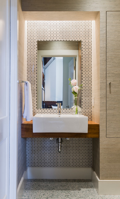 Back Bay modern-powder-room