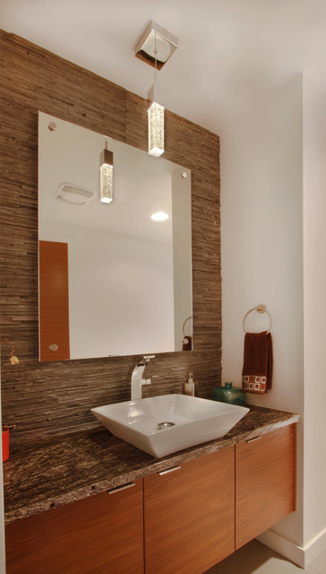 Badger Mountain House contemporary-powder-room