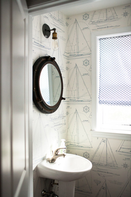 Gunther Way Beach Style Powder Room Baltimore By