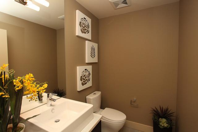Bankview Triplex contemporary-powder-room