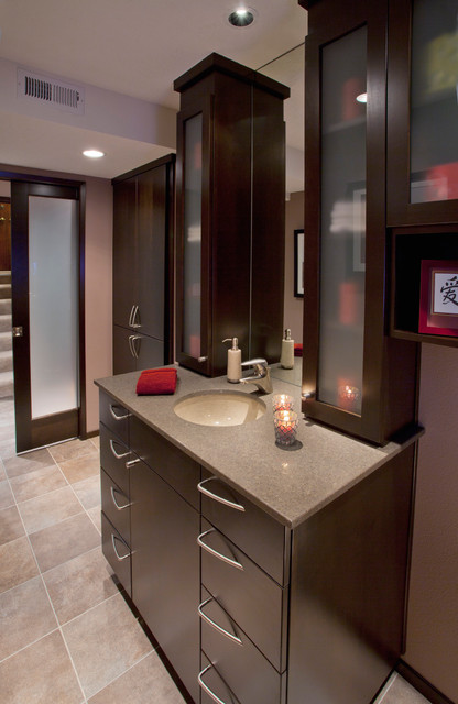 Basement Powder Room Modern Powder Room Portland