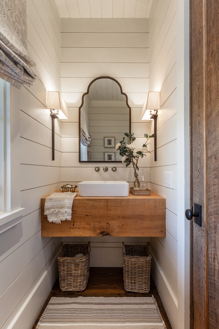 Chic Wood Vanities Star In Powder Rooms