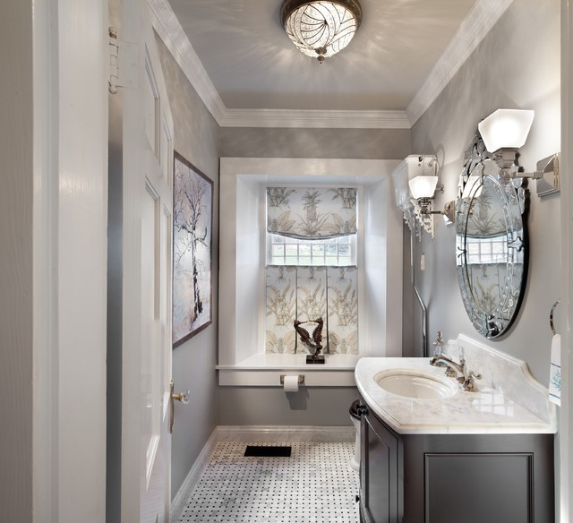 Bath renovations traditional cloakroom dc metro by ksa bath renovations traditional cloakroom mozeypictures Image collections