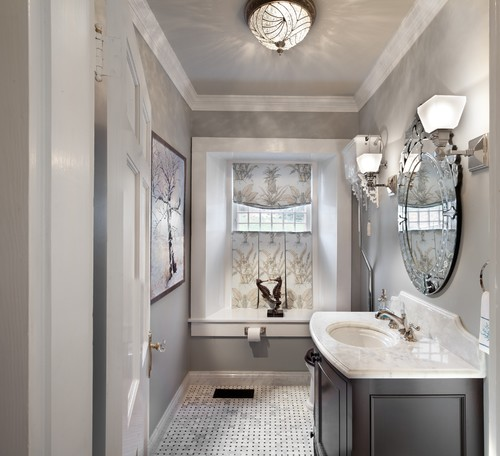 Bathroom Design Grey And White Traditional Bathroom By Purcellville Kitchen Bath Designers KSA