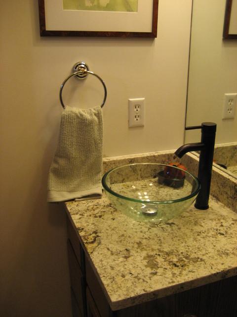 Bathroom countertops transitional-powder-room