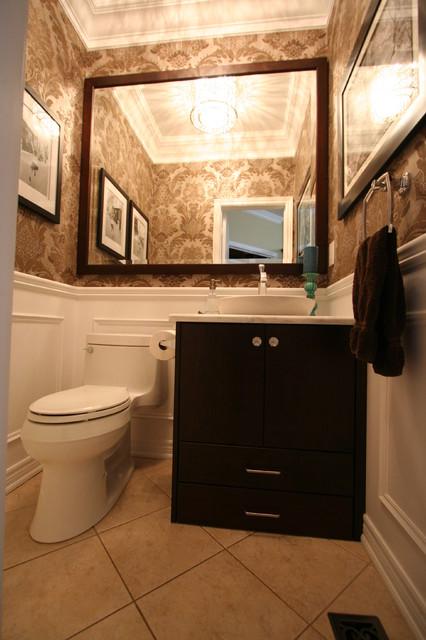 Bathroom design traditional powder room toronto by interior works inc - Bathroom design toronto ...