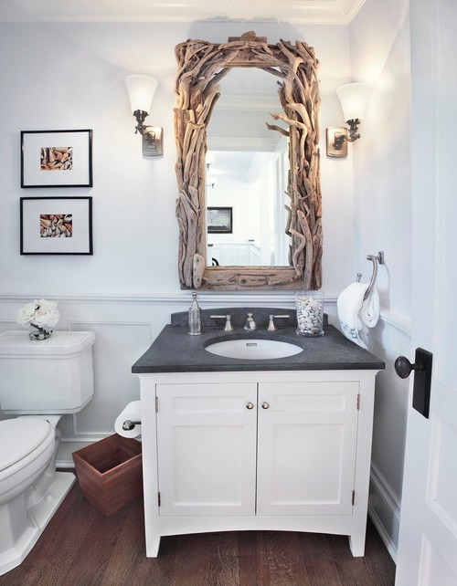 Beach Style Powder Room By Northport Architects Building Designers Adl Iii Architecture