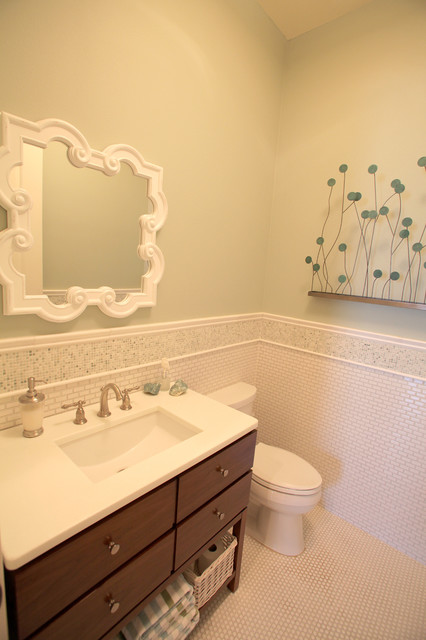 Bayshore Estates mediterranean powder room