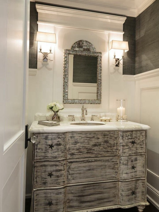 Beach Style Powder Room Design Ideas, Pictures, Remodel & Decor
