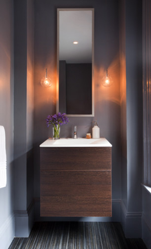 Beacon Hill House eclectic-powder-room