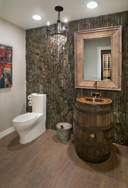 Bearspaw Interior Improvement 2013 Rustic Powder Room