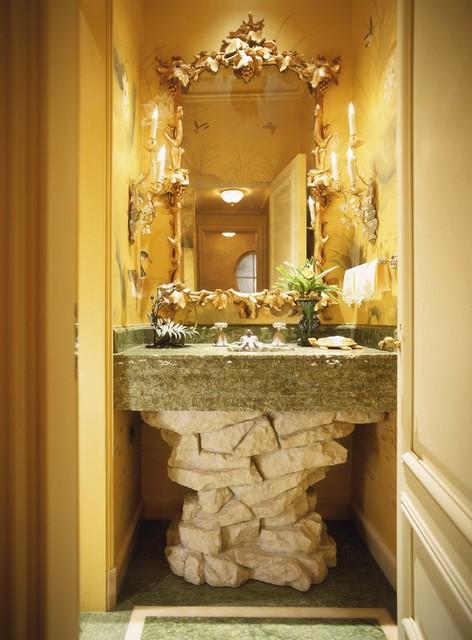 Beaux Arts Beauty Eclectic Powder Room San Francisco