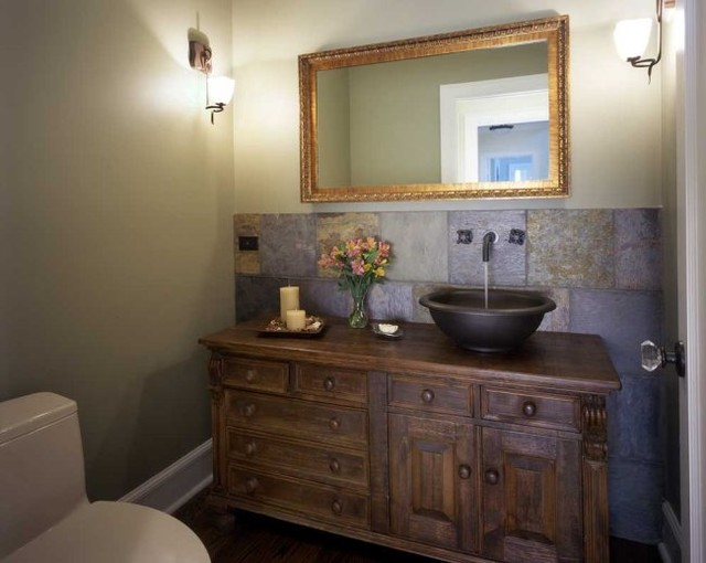 Becker Architects traditional powder room