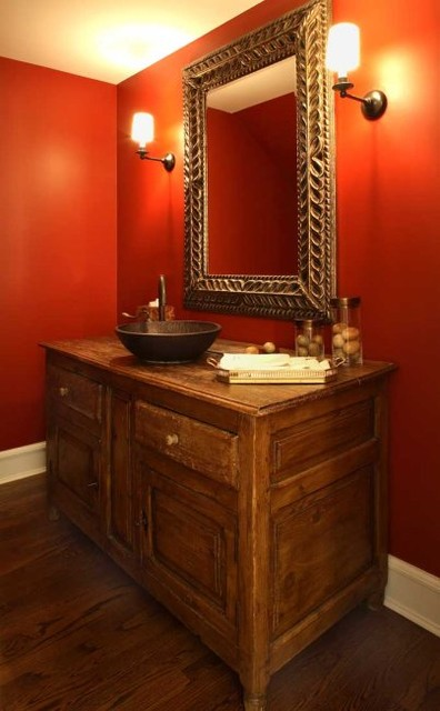 Becker Architects eclectic powder room