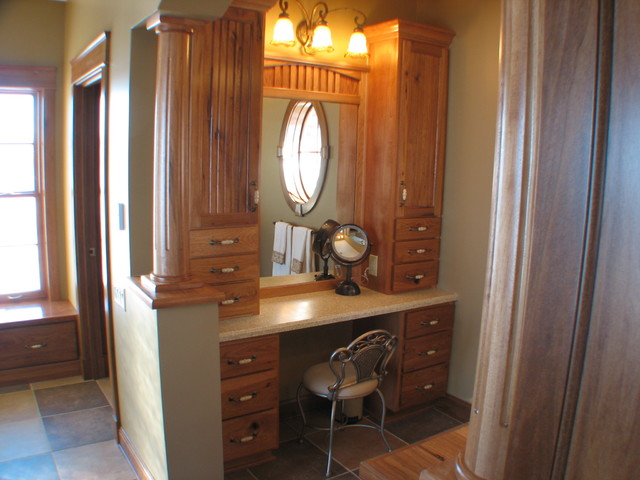 Bed & Bath by Cabinet Crafters traditional powder room