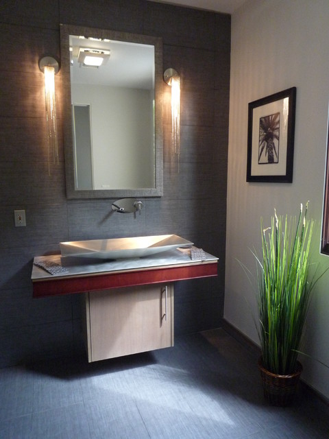 Powder room - modern powder room idea in Los Angeles