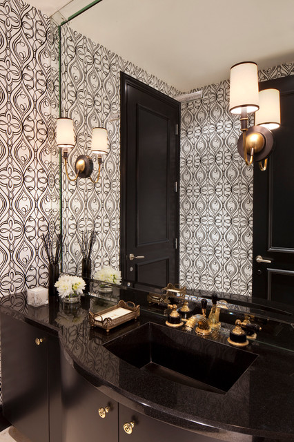 Beverly Hills Residence contemporary-powder-room