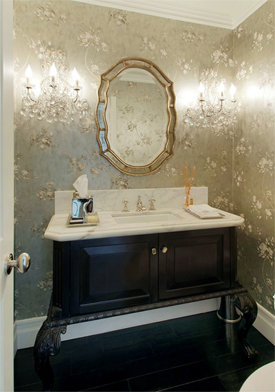 Beverly Hills contemporary-powder-room