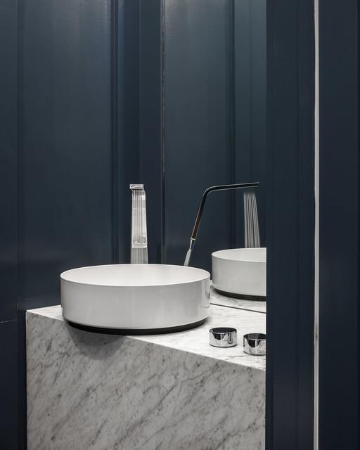 Blue Bold Modern Home Design Astro Design Ottawa Canada Modern Powder Room Ottawa