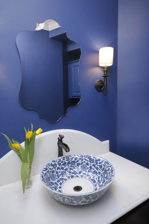 Blue Powder Bath Remodel