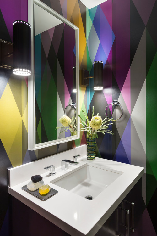 Bold & Colorful Powder Room