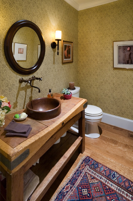 Book Lovers Home Sweet Home traditional-powder-room