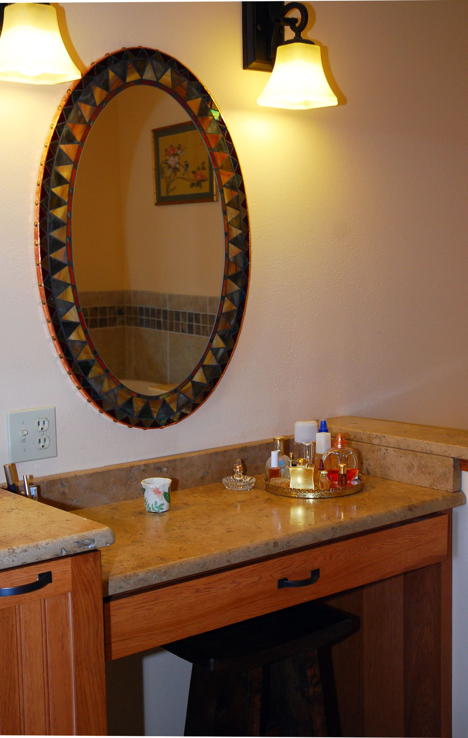 Breckenridge Home- Master bath vanity area