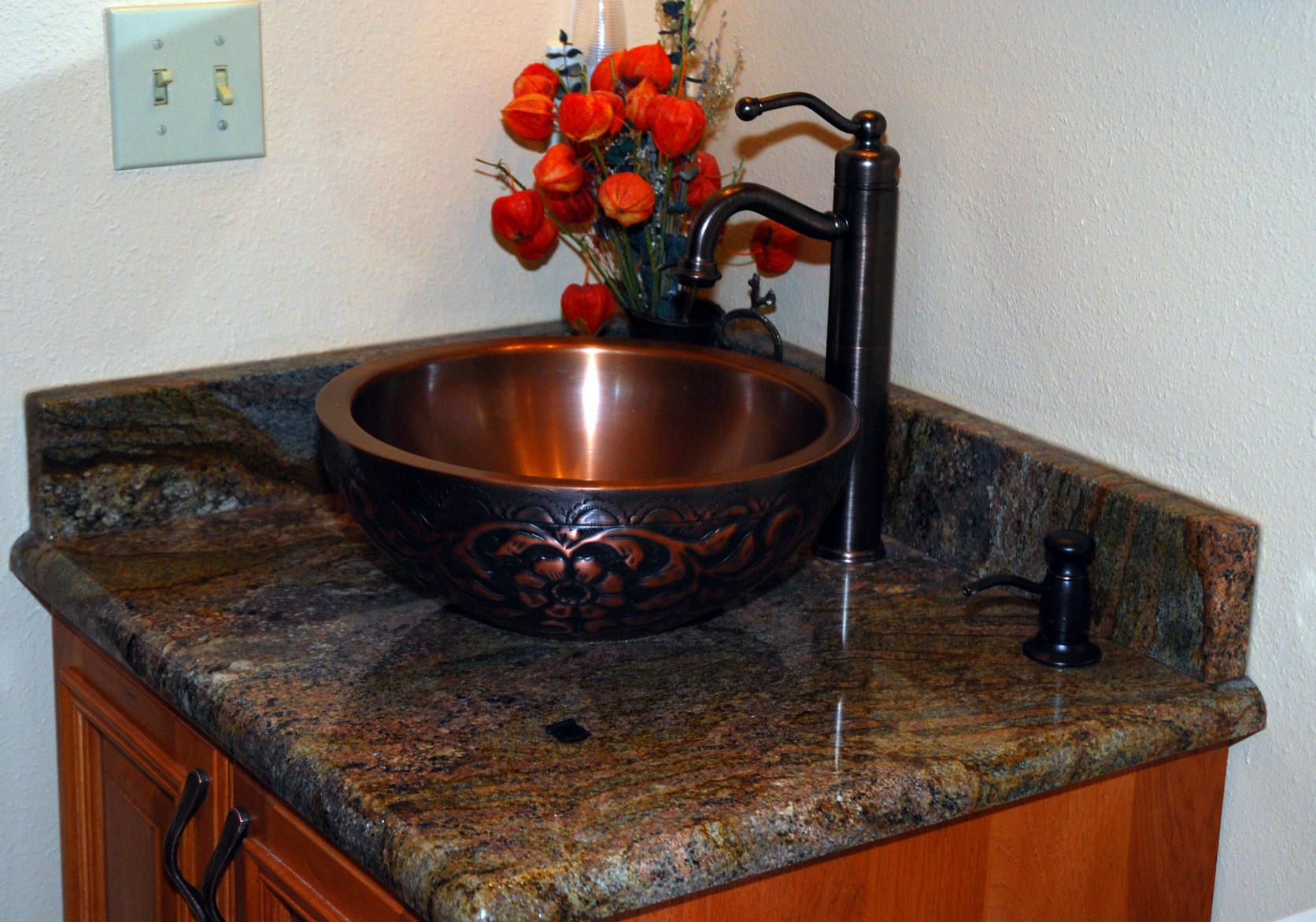 Breckenridge Home- Powder Room detail