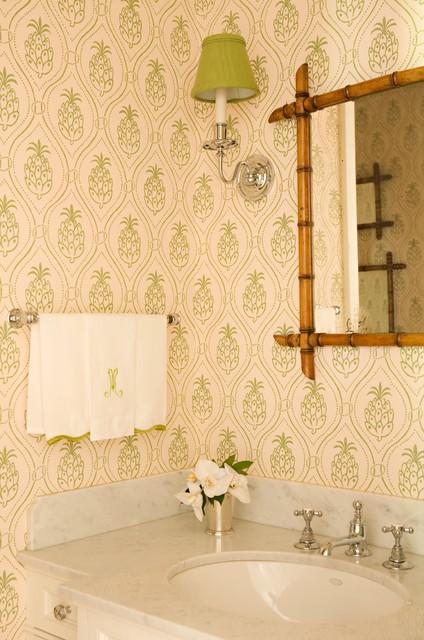 Brentwood Regency Estate eclectic-powder-room