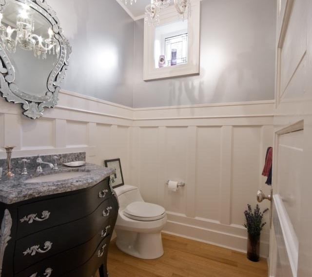 Bright and white traditional powder room vancouver for Bathroom ideas vancouver