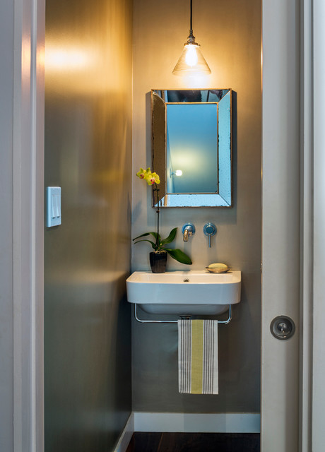 Brooklyn House contemporary-powder-room