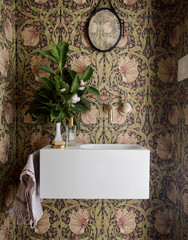 7 Stylish Patterns for a Powder Room Makeover