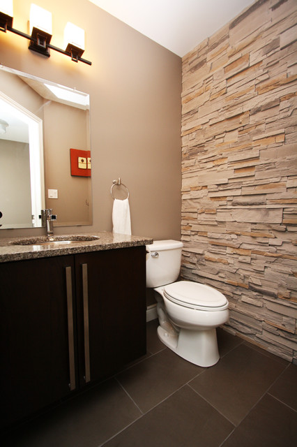 Buck Contemporary Powder Room Toronto By Allen Interiors Design Center Inc