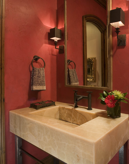 Buffehr Creek Residence contemporary powder room