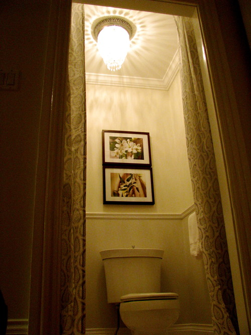 BY SANDRA HOWIE AND HARDROCK CONSTRUCTION traditional powder room