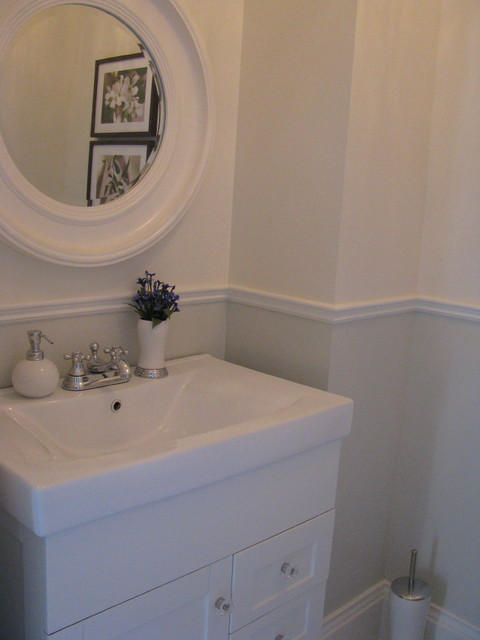 BY SANDRA HOWIE AND HARDROCK CONSTRUCTION traditional-powder-room