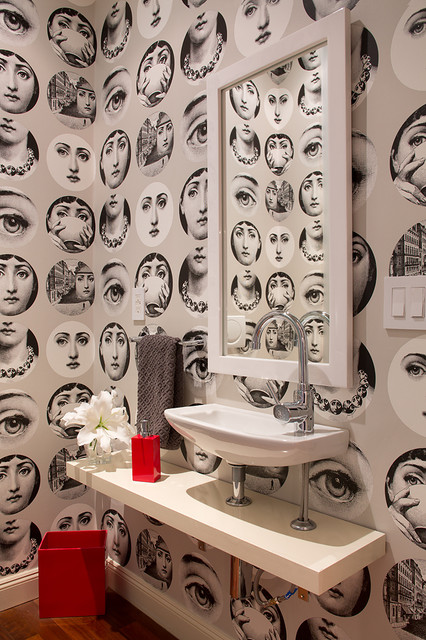 By The Bay Eclectic Powder Room