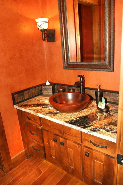 Mountain style powder room photo in Other
