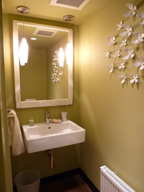 Capitoll Hill Basement Remodel Modern Powder Room
