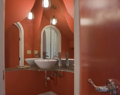 Carolyn Albert-Kincl, ASID contemporary-powder-room