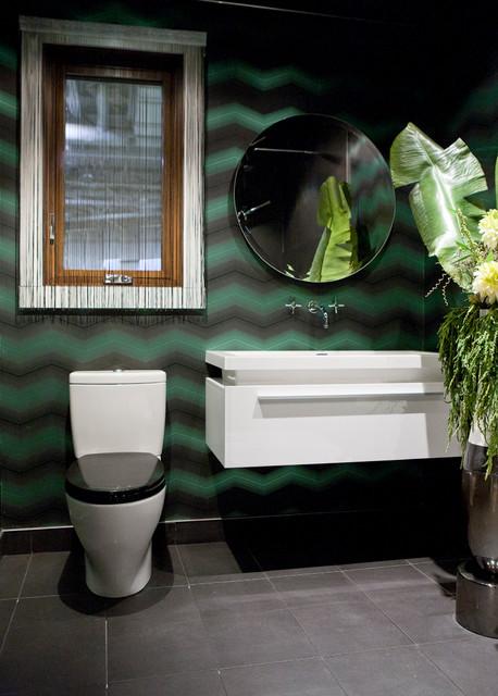 Casa Moderna contemporary-powder-room